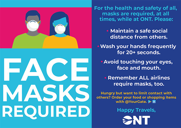 Wear mask at ONT