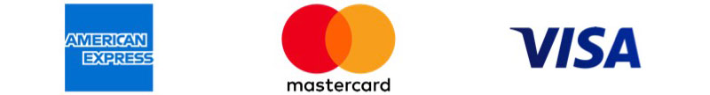 Accepted Payment Methods: American Express, Mastercard, Visa