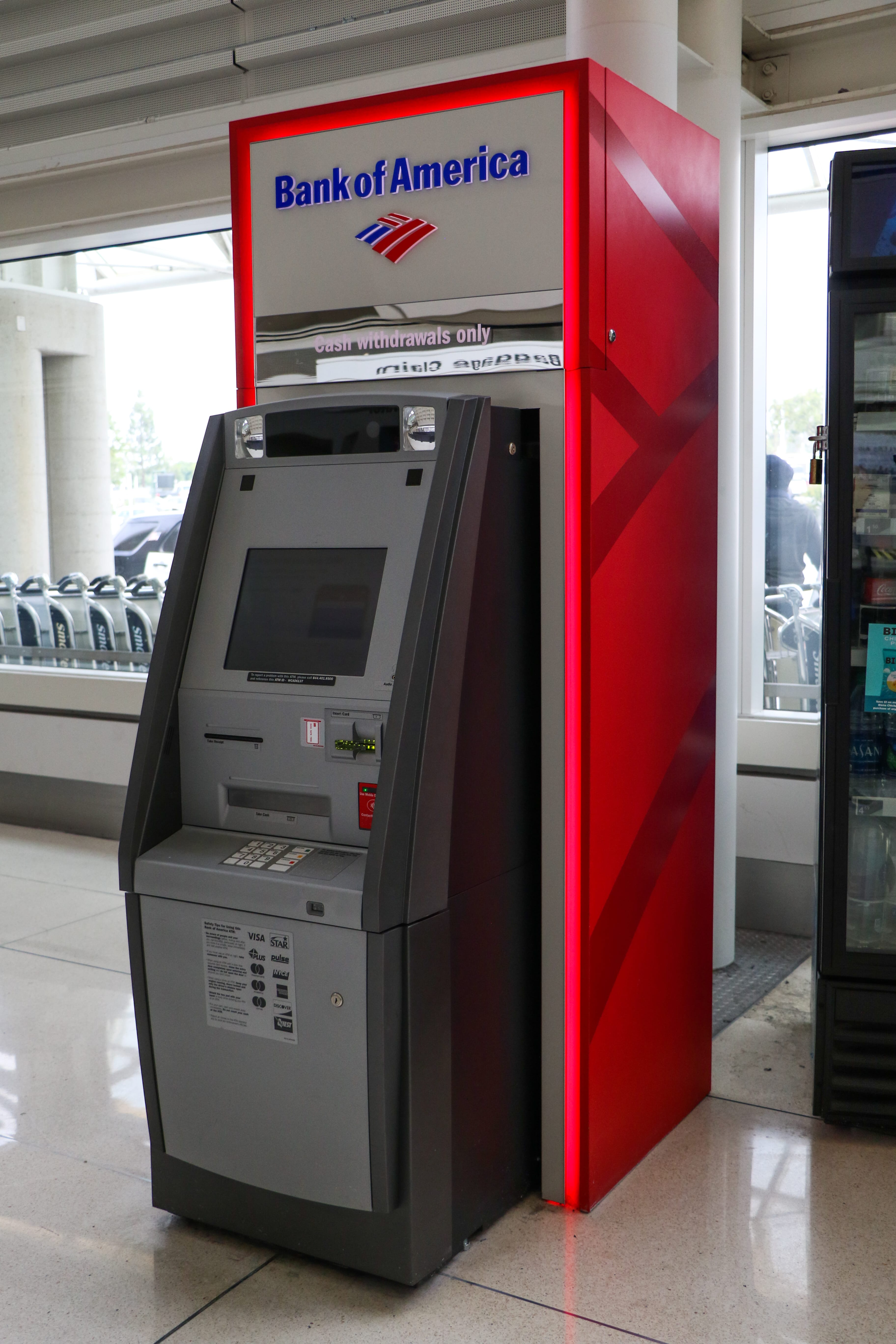 bank of america atm at the airport